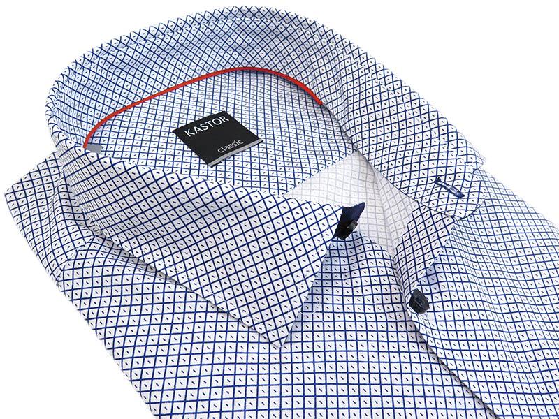 Biało-granatowa koszula we wzór K70