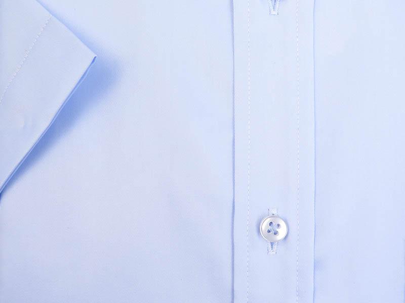 Błękitna koszula z krókim rękawem Kastor K71