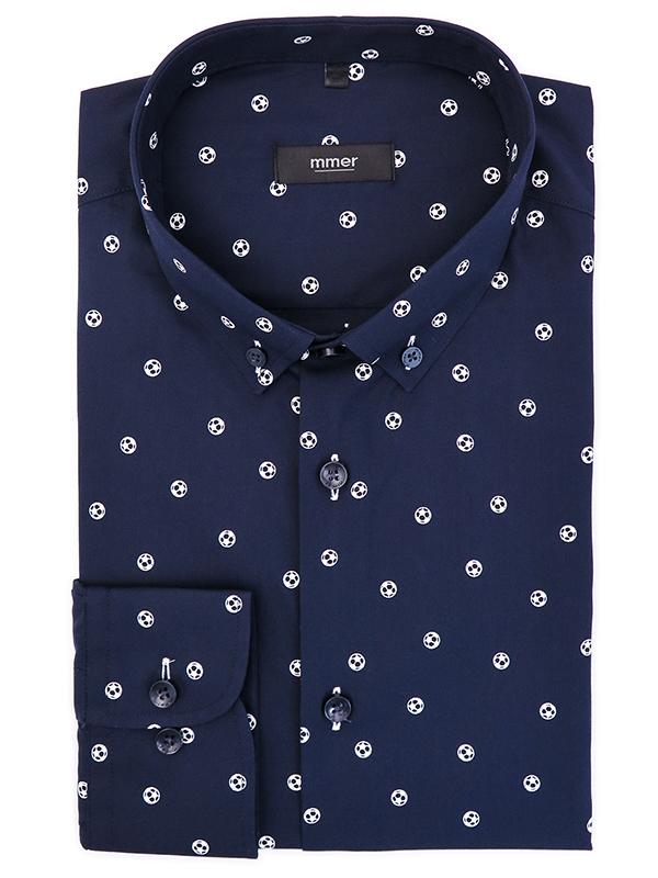 Granatowa koszula Mmer w piłki 029
