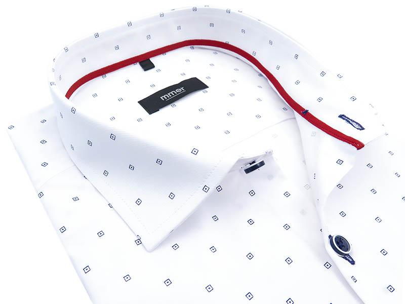 Biała koszula z krótkim rękawem 117