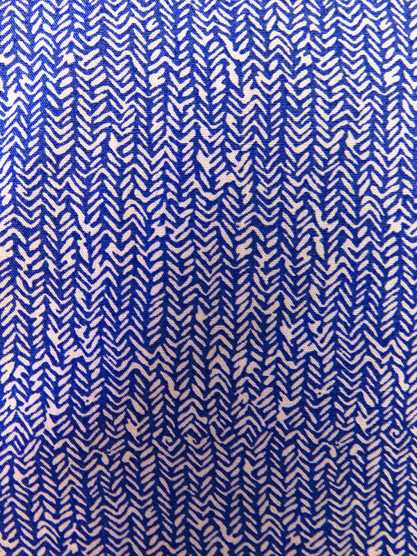 Niebieska koszula z długim rękawem w drobny wzór 499
