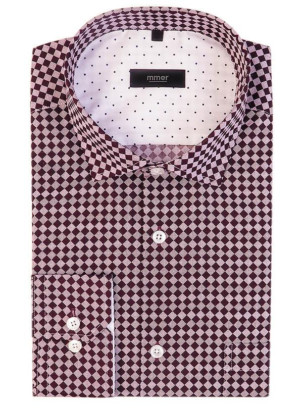 Koszula w bordową kratkę Mmer 640
