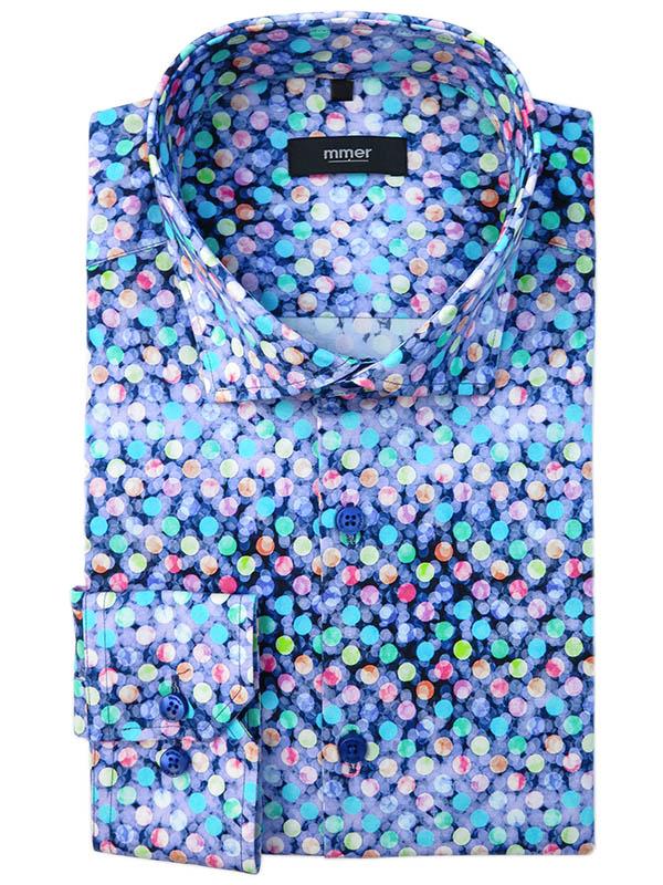 Kolorowa koszula w unikatowy wzór Mmer 876