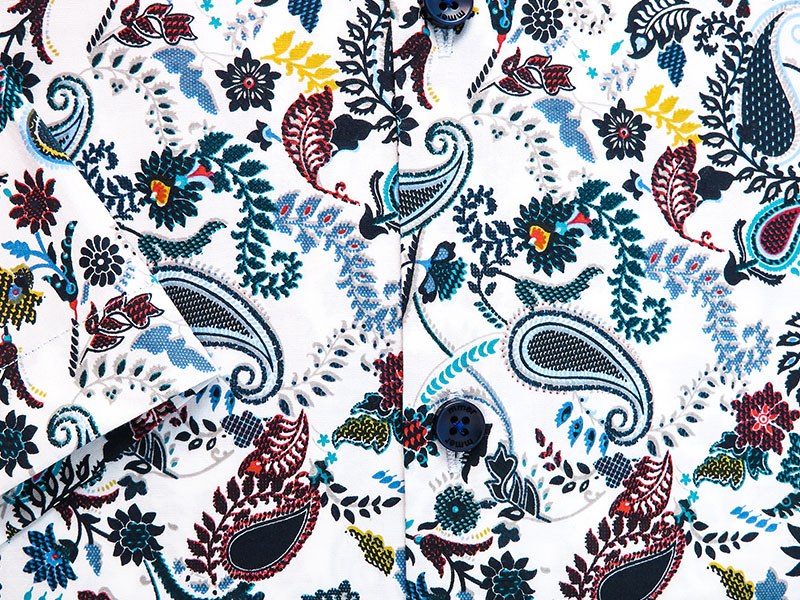 Koszula z krótkim rękawem w unikatowy wzór Mmer 877