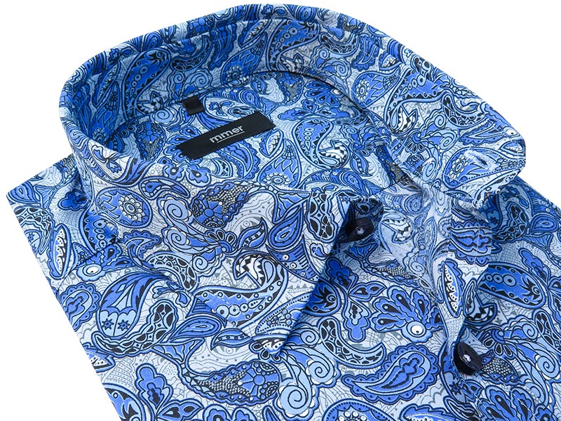 Niebieska koszula w paisley 757