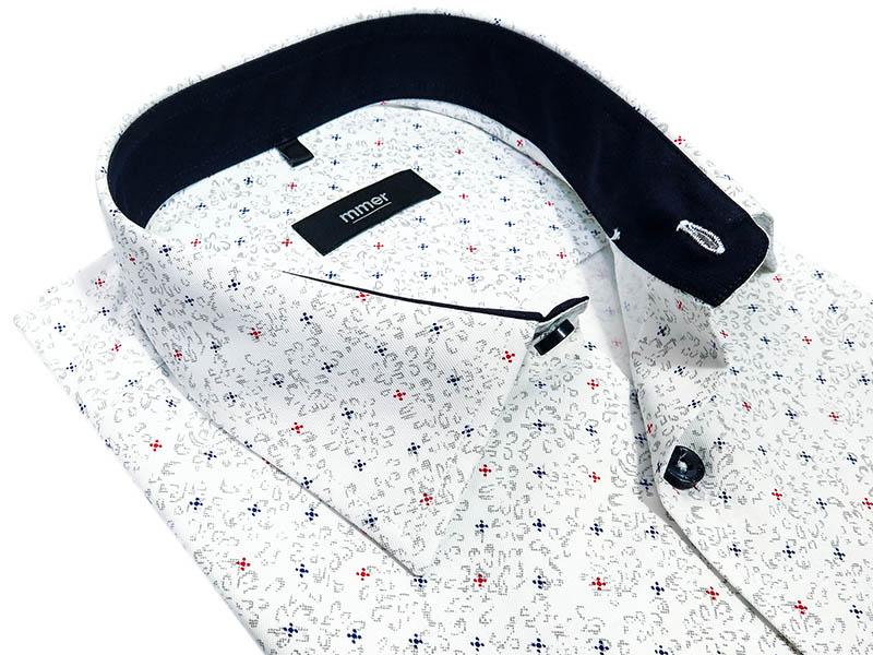 Koszula męska we wzór Mmer A013