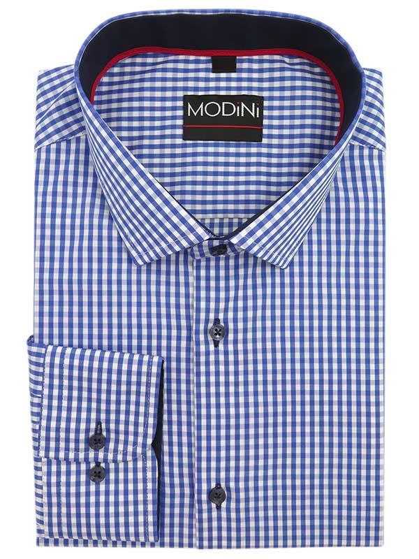 Koszula w niebiesko-białą kratkę Y16