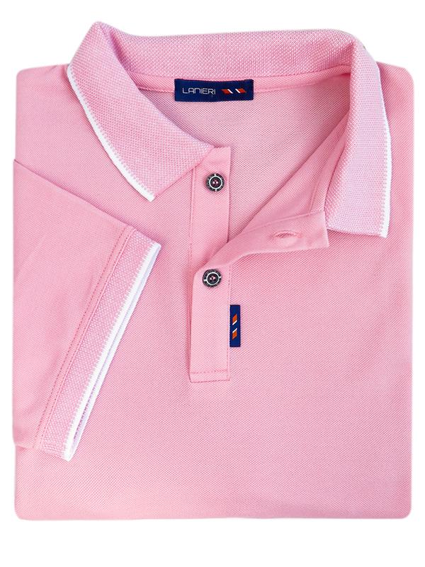 Męska koszulka polo - jasny róż KP7