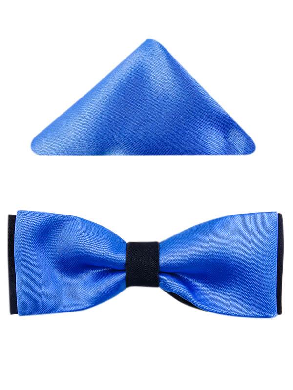 Niebiesko-czarna muszka dziecięca D14
