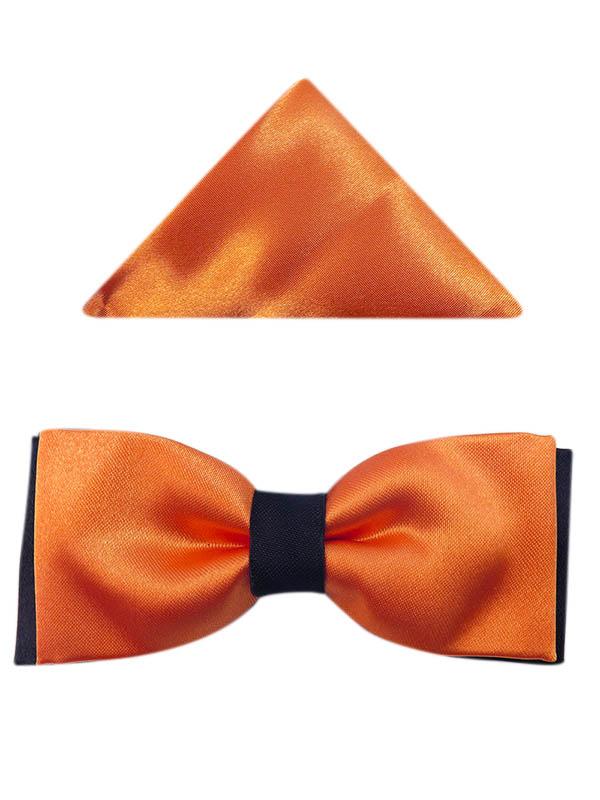 Pomarańczowo-czarna muszka dziecięca D15