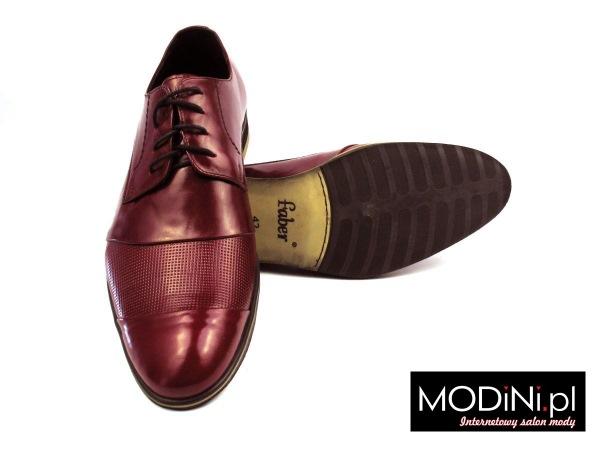 Bordowe buty męskie