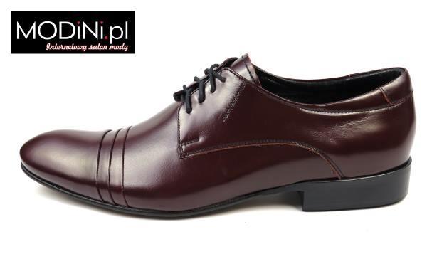 Bordowe obuwie męskie Faber