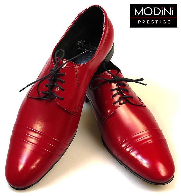 Ciemno czerwone buty męskie