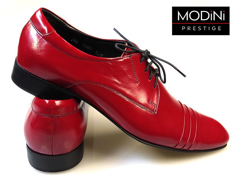 Jasno bordowe buty męskie