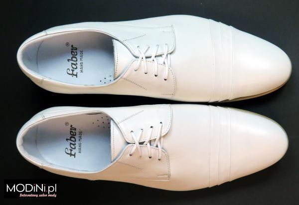 Białe obuwie męskie Faber