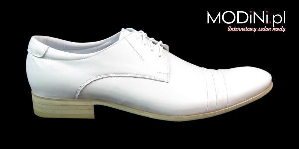 Białe obuwie męskie