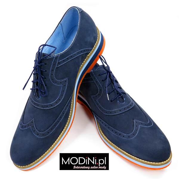 Granatowe casualowe obuwie męskie