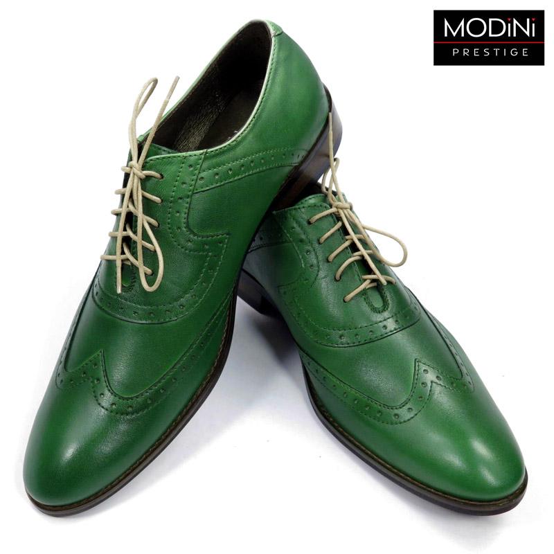 zielone buty wizytowe
