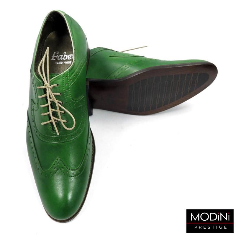 zielone brogsy męskie