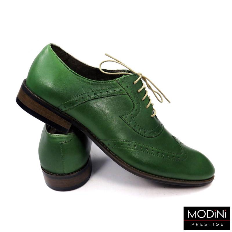 zielone buty męskie brogsy