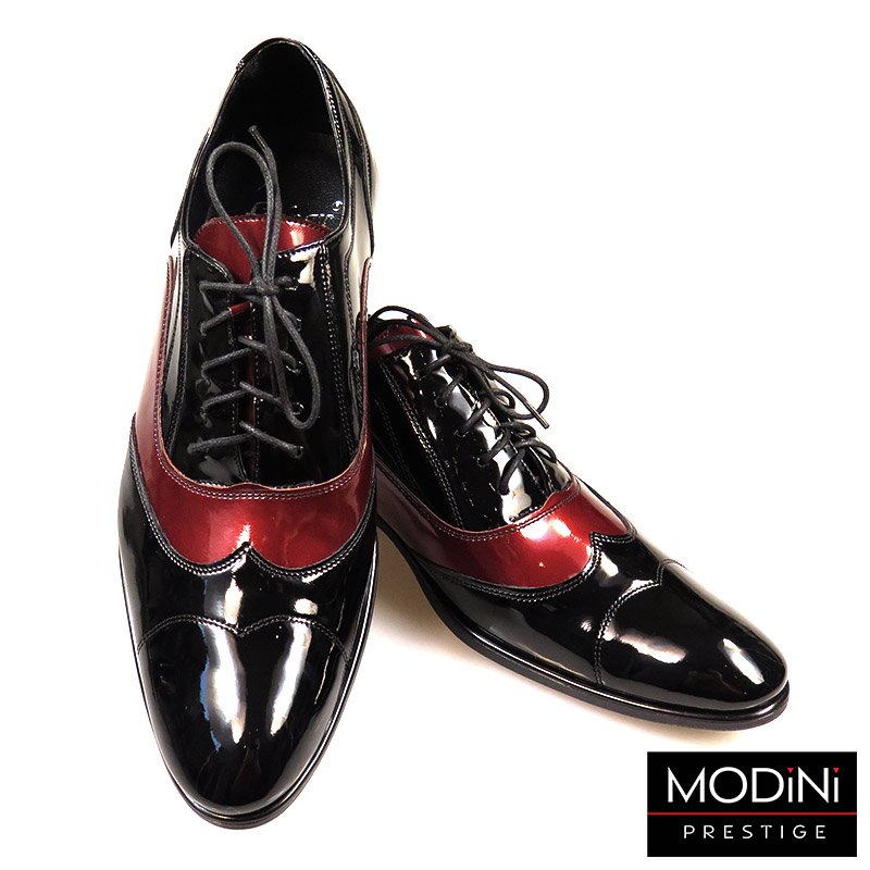 Czarno-bordowe buty wizytowe