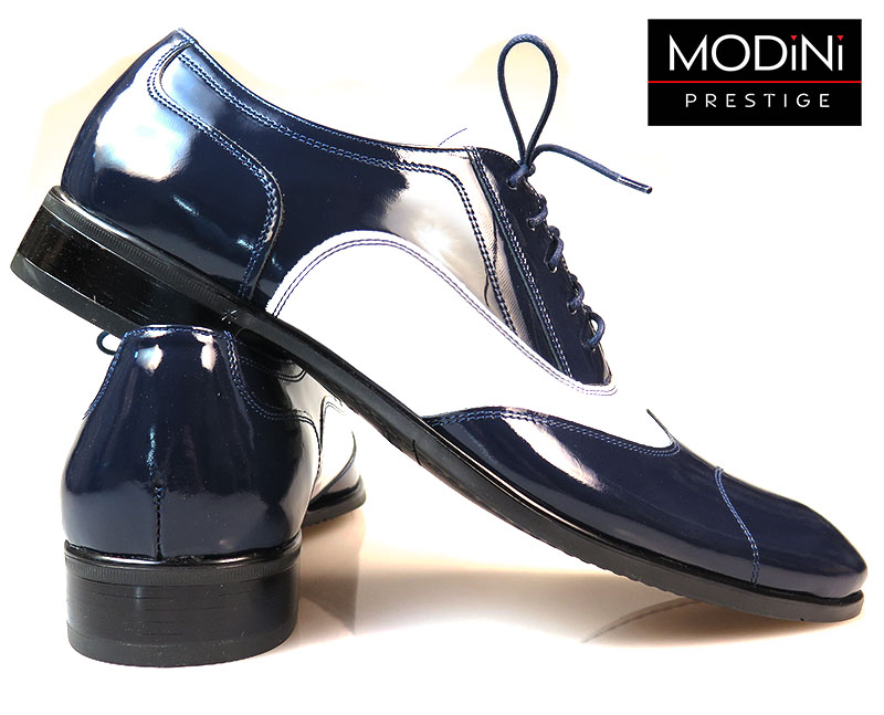 Oryginalne biało-granatowe obuwie męskie