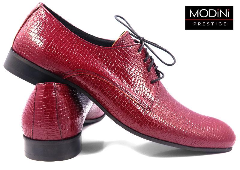 Czerwone buty - imitacja skóry węża T72