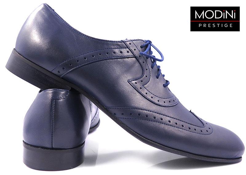 Granatowe obuwie męskie - brogsy