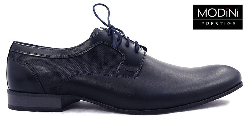 Ciemnogranatowe obuwie męskie T26