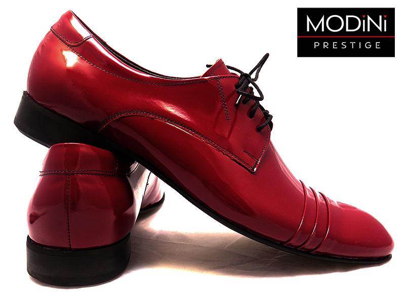 Bordowe obuwie męskie z zakładkami