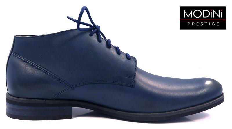 Granatowe eleganckie obuwie zimowe T65