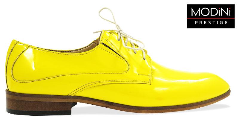 Unikatowe żółte lakierki męskie