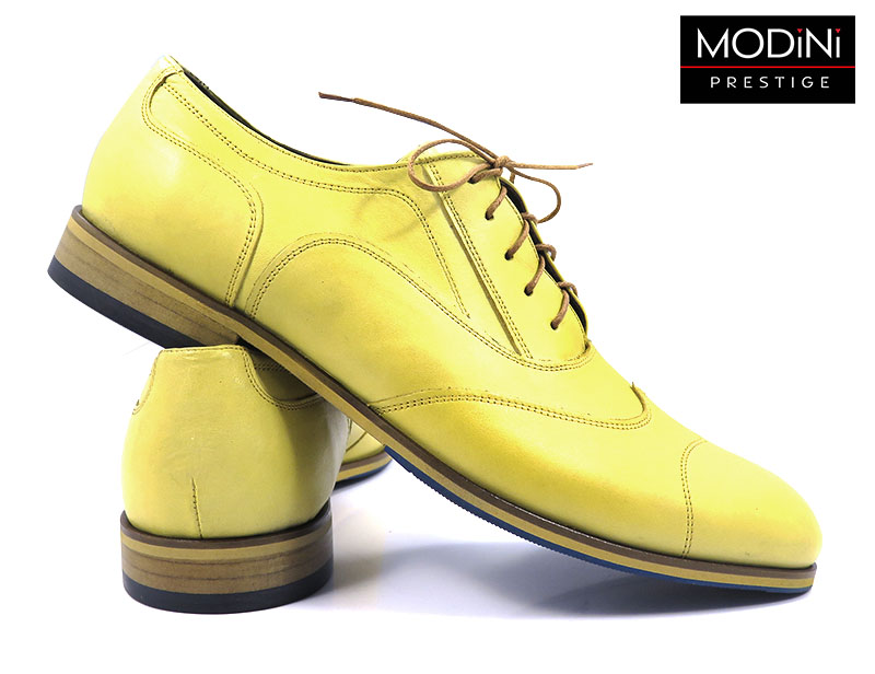 Żółte brogsy męskie T77