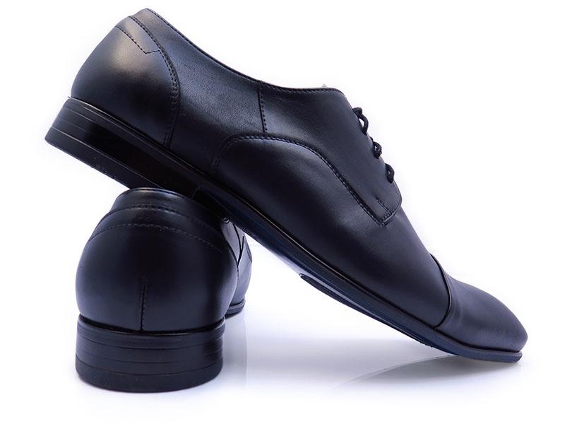 Czarne półmatowe obuwie wizytowe T94