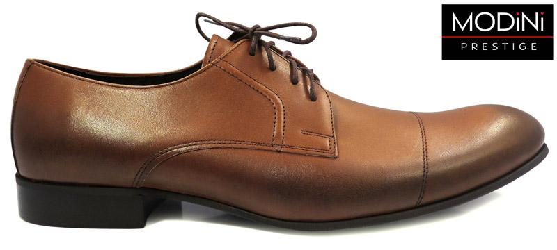 brązowo-koniakowe obuwie faber