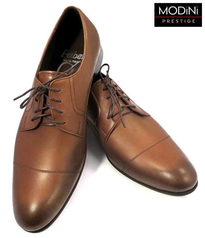 brązowe przecierane obuwie męskie