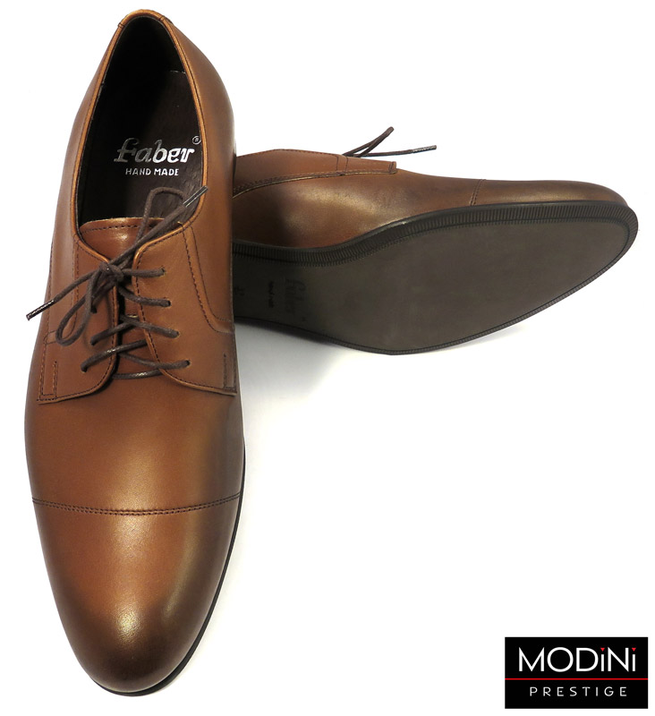 brązowo-koniakowe eleganckie buty męskie