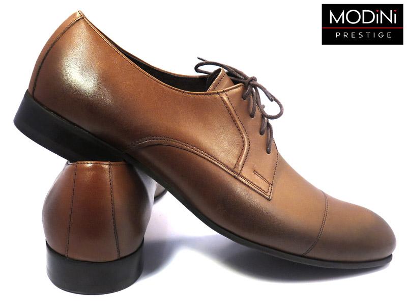 brązowo-koniakowe przecierane buty