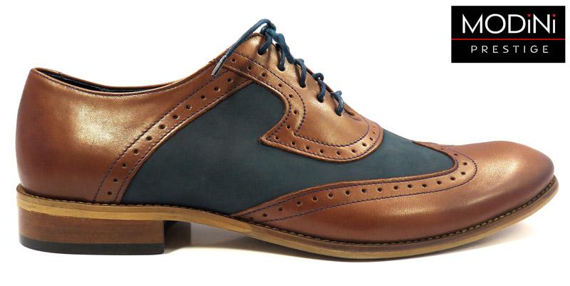 brązowo-granatowe buty męskie