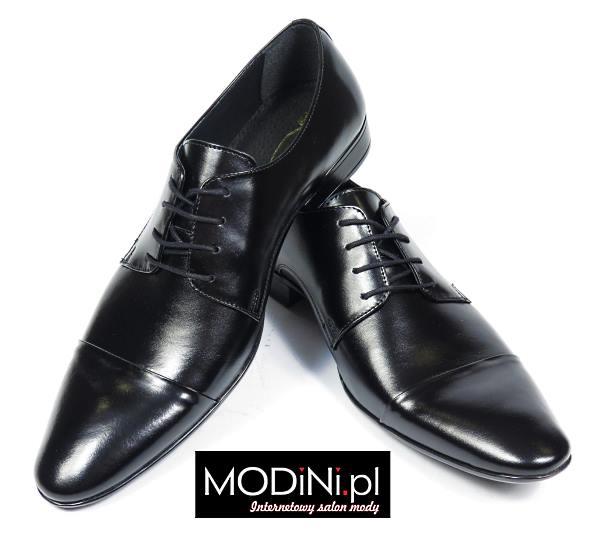 Czarne buty wizytowe męskie