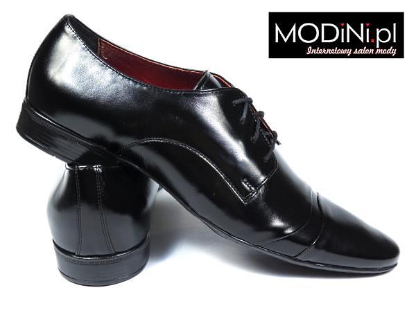 Męskie buty wizytowe Gino Vertuci z czerwoną wyściółką