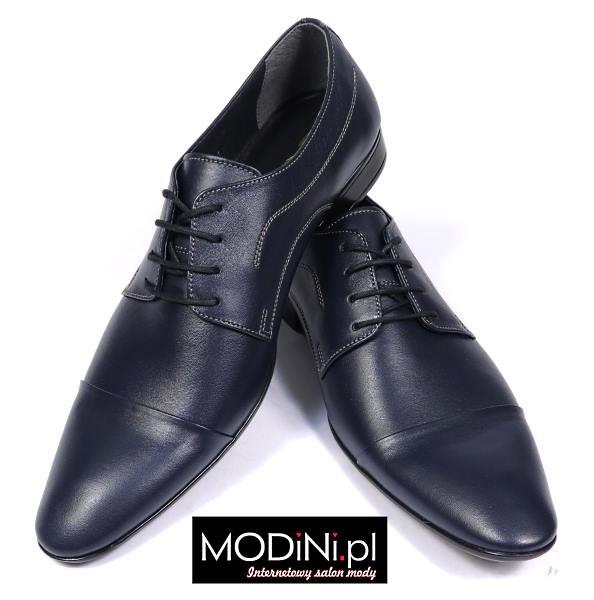 Granatowe obuwie męskie