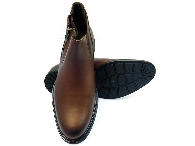 Brązowe buty zimowe - sztyblety BZ1