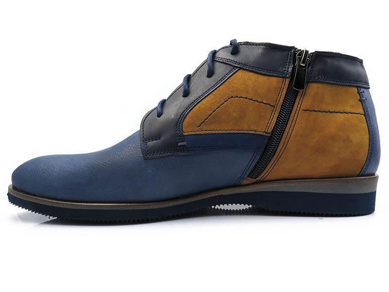 Granatowo-koniakowe obuwie zimowe BZ3