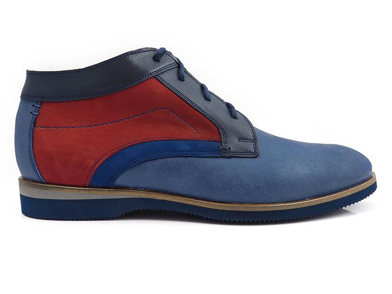 Granatowo-czerwone obuwie zimowe BZ4