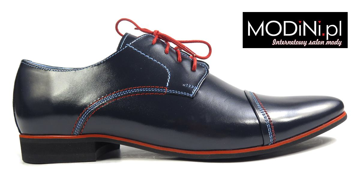 Granatowe buty męskie