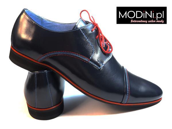 Granatowe męskie obuwie casual