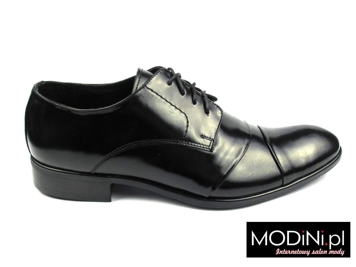 Czarne wygodne buty męskie