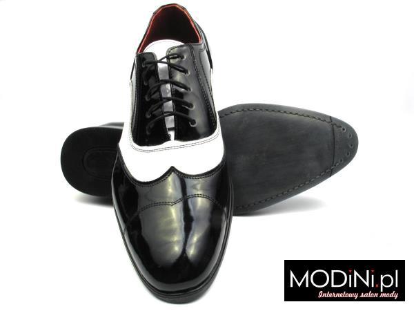 czarno białe buty męskie