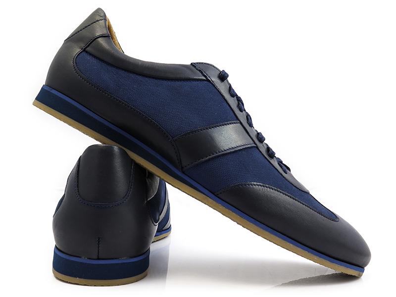 Granatowo-niebieskie obuwie sportowe T61